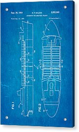 Mclean Shipping Container Patent Art 1958 Blueprint Acrylic Print by Ian Monk