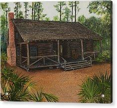 Mcmullen Log Cabin Acrylic Print