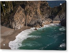 Mcvay Falls... Big Sur  Acrylic Print by Tim Bryan