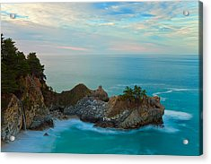 Mcway Falls At Sunrise Acrylic Print by Jonathan Nguyen