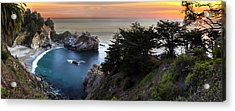 Mcway Falls Sunset Acrylic Print by Brad Scott