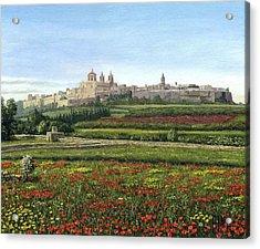 Mdina Poppies Malta Acrylic Print