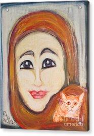 Me And Kitkat Acrylic Print