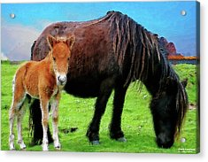 Me And Mum Acrylic Print