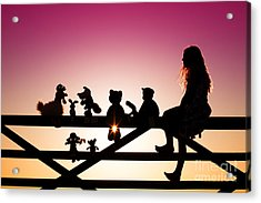 Me And My Friends Acrylic Print by Tim Gainey