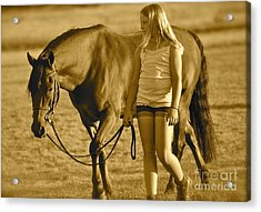 Acrylic Print featuring the photograph Me And My Pony by Barbara Dudley