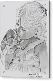 Me And My Puppy Acrylic Print