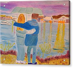 Acrylic Print featuring the painting Me And You by Meryl Goudey