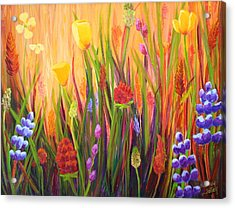 Meadow Gold Acrylic Print