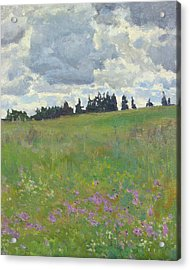 Meadow Is Blooming Acrylic Print by Victoria Kharchenko