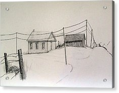Meadow View School Acrylic Print by Kathleen Barlament