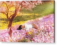 Meadows Of Heaven Acrylic Print by Mo T