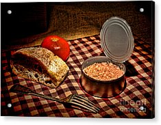 Meager Lunch Acrylic Print by Olivier Le Queinec