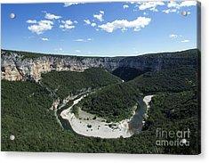 Meander. Gorges De L'ardeche. France Acrylic Print by Bernard Jaubert