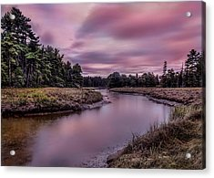 Acrylic Print featuring the photograph Meandering Inlet by Steve Zimic