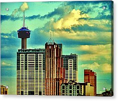 Meanwhile In Another Part Of Town Acrylic Print by Wendy J St Christopher