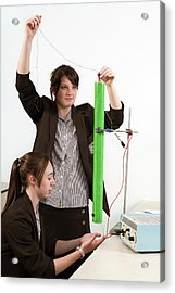 Measuring Electromagnetic Induction Acrylic Print by Trevor Clifford Photography
