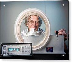 Measuring Magnetic Remanence Acrylic Print by Nasa