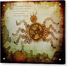 Mechanical - Arachnid Acrylic Print by Fran Riley