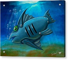 Mechanical Fish 4 Acrylic Print by David Kyte