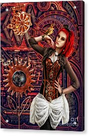 Mechanical Garden Acrylic Print by Mo T