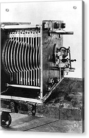Mechanical Gear Number Sieve Acrylic Print by Underwood Archives