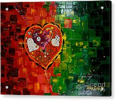 Mechanism Of Love Acrylic Print by Alexandru Rusu