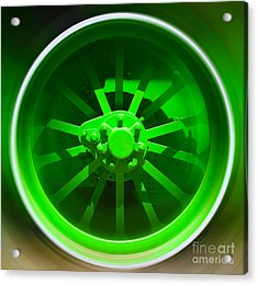 Acrylic Print featuring the digital art Mechanism-vi by Sandro Rossi