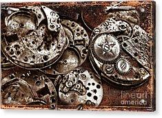 Rusty Watch Mechanism Acrylic Print