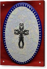 Medallion With Cross Acrylic Print by Fabiola Rodriguez