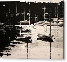 Medford Boat Club Acrylic Print by Robert Crooker