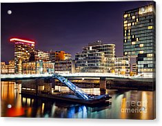 Media Harbor Dusseldorf Acrylic Print by Daniel Heine