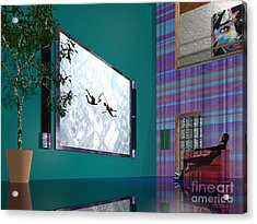 Media Room Acrylic Print by Walter Oliver Neal