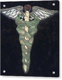 Medical Caduceus  Acrylic Print by Lisa Collinsworth