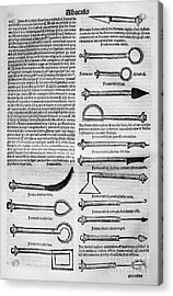 Medical Instruments, 1531 Acrylic Print by Granger