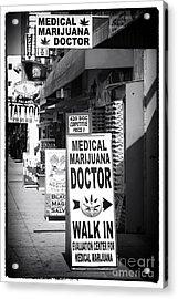 Medical Marijuana Doctor Acrylic Print by John Rizzuto