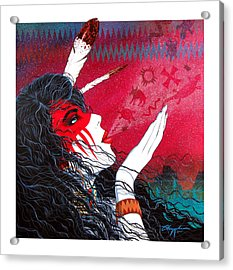 Acrylic Print featuring the painting Medicine Breath by David  Chapple