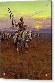 Acrylic Print featuring the painting Medicine Man by Charles Marion Russell