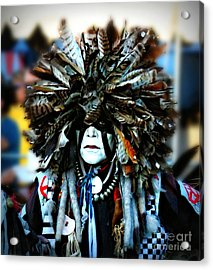 Medicine Man Headdress Acrylic Print by Scarlett Images Photography