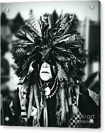 Medicine Man Silver Screen Acrylic Print by Scarlett Images Photography