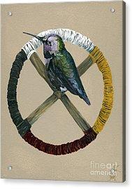 Medicine Wheel Acrylic Print by J W Baker