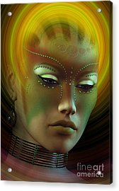 Medicine Woman B Acrylic Print by Shadowlea Is