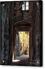 Medieval Alley Acrylic Print