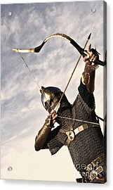 Medieval Archer Acrylic Print by Holly Martin