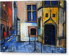 Medieval Architecture In Vieux Lyon France Acrylic Print