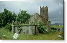 Medieval Church And Churchyard Acrylic Print by Unknown