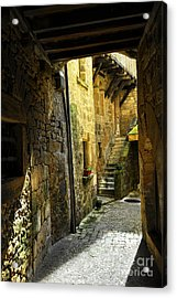 Medieval Courtyard Acrylic Print