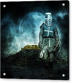 Acrylic Print featuring the photograph Medieval Crusader by Jaroslaw Grudzinski
