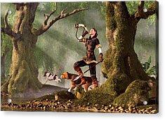 Medieval Huntress Acrylic Print