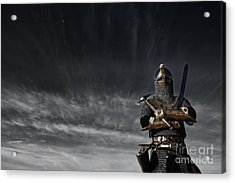 Medieval Knight With Sword And Axe Acrylic Print
